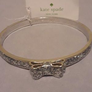 Kate Spade silver sparkle bangle